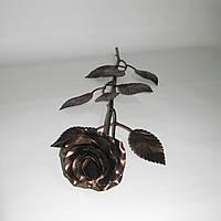 Роза кованая бронза 01