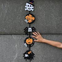 Подвеска для Хэллоуина декор для дома Белый+Черный+Желтый
