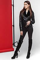 Куртка женская на осень модная черная