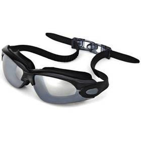 OP928 Плавательные противотуманные очки с защитой от ультрафиолета из мягкого силикона / гальванические линзы для взрослых - Чёрный