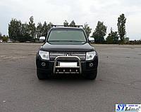 Кенгурятник з нержавіючої сталі на Mitsubishi Pajero Wagon IV