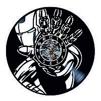Настенные часы из виниловых пластинок LikeMark IronMan