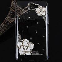 Цветок боярышника Пластиковые алмазов Чехол для Samsung Galaxy Примечание 2 N7100 SGN-2455