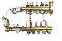 Коллектор в сборе для теплого пола АРС-03 на 3 выхода с водорасходомерами