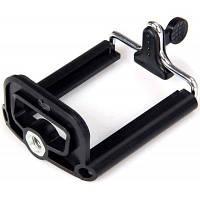 Универсальный монтажный адаптер на штатив телескопический держатель для сотового телефона Чёрный