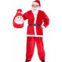 Декоративный костюм Санта Клаус 5шт Красный