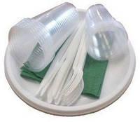 Набор одноразовой посуды Будем ТМ 10 персон (10стак.180мл. + 10стак, 80 мл)