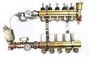 Коллектор для теплого пола в сборе АРС-09 с водорасходомерами на 9 выходов
