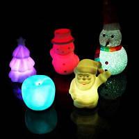Креативный рождественский ночной светильник 2шт Цветной