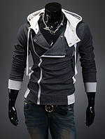 Мужская теплая толстовка утеплённая черного цвета