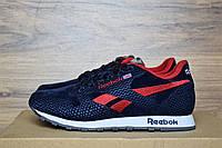Женские кроссовки Reebok Classic синие с красным 2395