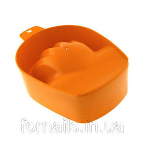 Ванночка для маникюра ярко оранжевая