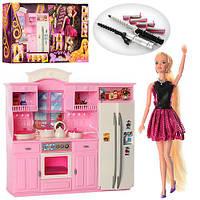 Мебель, кухня 31*30см, кукла 29см, посуда,аксессуары, в кор.60*11*33см(12шт)(66866)