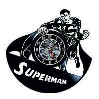 Настенные часы из виниловых пластинок LikeMark Superman