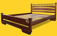 Кровать полуторная с натурального дерева в спальню ТИС АТЛАНТ 1 120*190 сосна