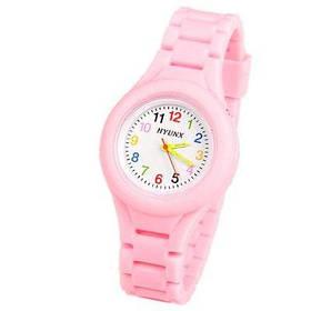 HYUNX Детские часы с 12 арабскими цифрами силикагель - Розовый