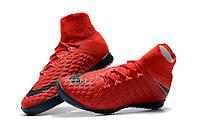 Футзалки Nike Hupervenom x Proximo II DF IC University Red (футзалки найк ) красные