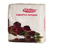 "Салфетка столовая 30шт. ""Malvar"" 24 * 24 БЕЛАЯ 16шт. / Уп"