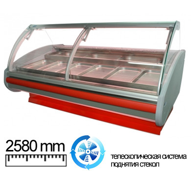 Холодильная витрина Cold 25 (w-25-pvp-k-GN)