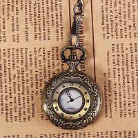 Модные Кварцевые карманные часы с подвесной шеи цепочку унисекс среднего размера (Бронза) медный кулер