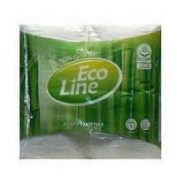 """Туалетний папір білий """"Eco Line"""" 2 шари (4шт.) 12уп.\бл."""