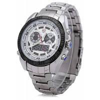 TVG KM-468 Элитные военные светодиодные спортивные часы с двойным механизмом аналого-цифровые кварцевые наручные часы со светящимися руками браслет из