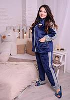 Женскаяпижама в больших размерахиз плюшевоймахрыd-720028, фото 1