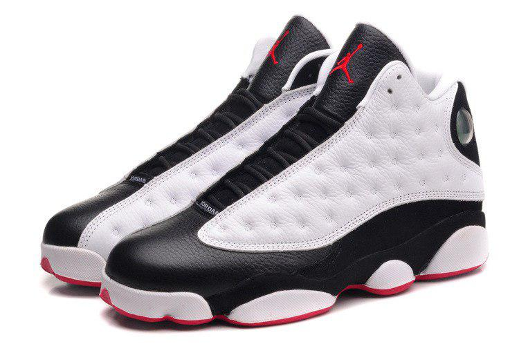 1871a63b Мужские кроссовки Nike Air Jordan 13 Retro White/Black/Red