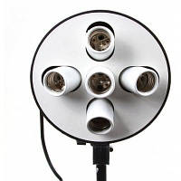 5 В 1 E27 Софтбокс адаптер ламп для фото видео Американская вилка