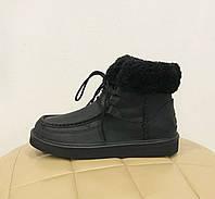 UGG Australia Women's Levy Black Черные кожаные женские ботинки
