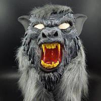 Yeduo Горячая продажа латексная маска в форме волчьей головы с волосами для вечеринки Хэллоуина страшная ужасная маска для лица Цветной