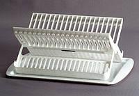 Сушка для посуды 2в1 53 * 23 * 19 см пластик (белый)