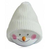 Рождестенская игрушка снеговик украшение декор Белый