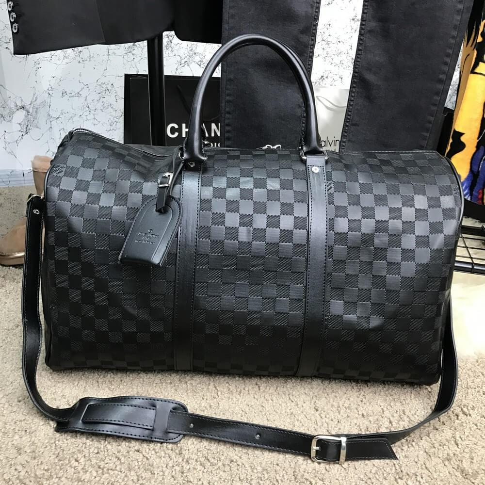 c9aad9a9d8e1 Мужской саквояж Louis Vuitton Keepall 55 Damier Ebene, Копия - TopCross в  Львове