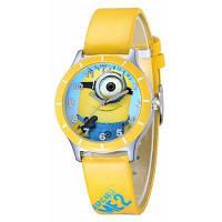 Популярные женщины часы аналоговые с Bee-сделать круглый Циферблат Кожаный ремешок для часов Жёлтый