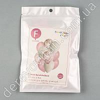 Шары воздушные с конфетти, бело-розовые, 30 см×10 шт.