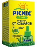 """Жидкость """"Picnic Family"""" защита от комаров 30 мл. (45 ночей)"""