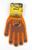 """Рукавиці трикотажні """"SILK"""" оранж (бавовна-55%.поліестер-45%) 10пар/уп арт.1500"""