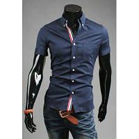 Летние рубашки мужские Военно-Морского Флота\вышивка с 2XL