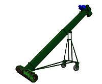 Скребковый транспортер-нория с шнековым подборщиком: диаметр 150мм, длина 5м, производительность до 20т/час