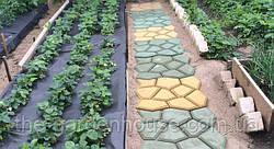Садовая дорожка с помощью формы своими руками