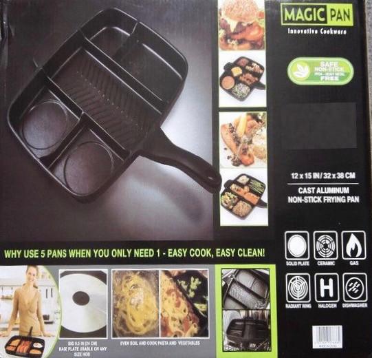 Универсальная антипригарная сковорода 5 в 1 Magic Pan