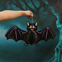Бумажное подвесное украшение летучая мышь Хэллоуин Чёрный