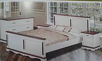 Кровать Жизель белая из массива ольхи