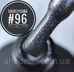 Гель-лак Haruyama №096 (серый с голографическими блестками), 8 мл, фото 2