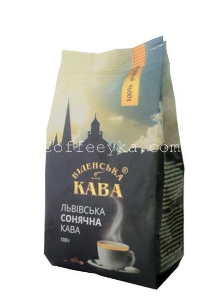 Кофе молотый Віденська кава Львівська сонячна 100 г
