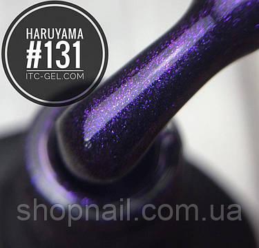 Гель-лак Haruyama №131 (черно-фиолетовый с сиреневыми микроблестками), 8 мл, фото 2