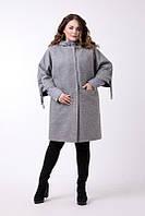 Женский демисезонный комплект пальто+куртка большого размера (размеры 48-62)