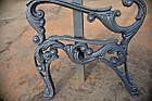 Опора лавки садово-парковой чугунная с подлокотником № 10, фото 4