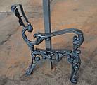Опора лавки садово-парковой чугунная с подлокотником № 10, фото 7